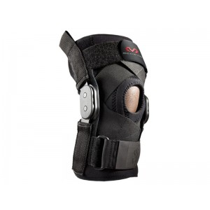 KNEE BRACE WITH POLYCENTRIC HINGES & CROSS STRAPS