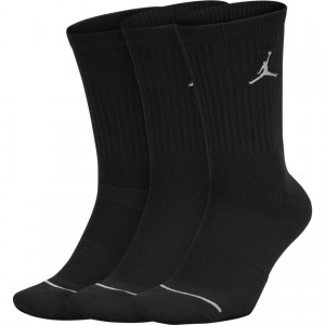 "UNISEX JORDAN JUMPMAN CREW SOCKS (3 PACK) ""BLACK"""